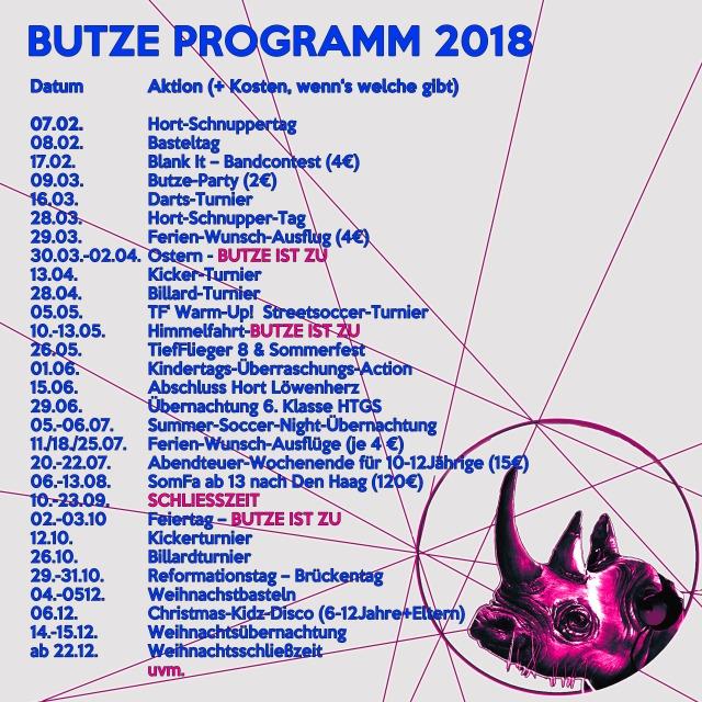 BUTZE PROGRAMM 2018
